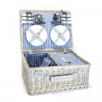 Yellowstone 4 Person Wicker Picnic Basket with Cooler Compartment | CW075